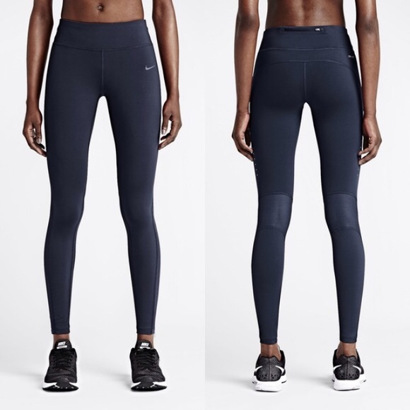Nike Power Epic Lux Tights - navy blue ad9893053